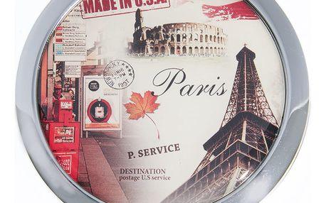 Kapesní kulaté zrcátko Paris Summer kovové červené