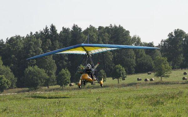 Let motorovým rogalem, 20 minut letu + příprava, počet osob: 1, Erpužice (Plzeňský kraj)2