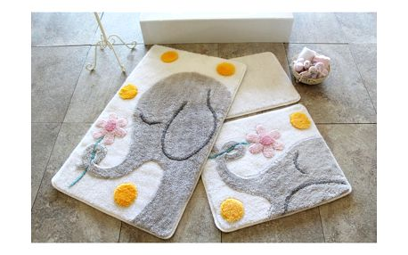 Sada 3 koupelnových předložek Alessia Buyuk Fil Grey