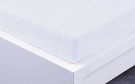 XPOSE ® Prostěradlo mikroflanel Exclusive dvoulůžko - bílá 200x220 cm