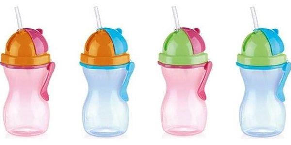 TESCOMA dětská láhev s brčkem BAMBINI 300 ml, zelená, růžová3