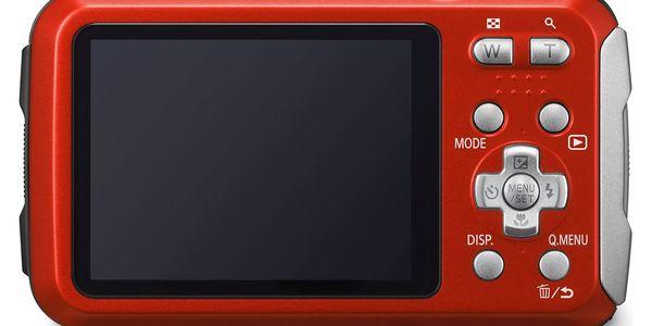 Digitální fotoaparát Panasonic Lumix DMC-FT30EP-R červený3
