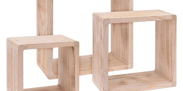 Dekorativní police dřevěná, 3 ks Home Styling Collection