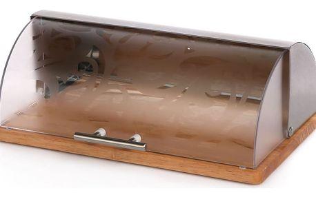 Nerezový chlebník 38 x 26,5 x 14,5 cm, čirá