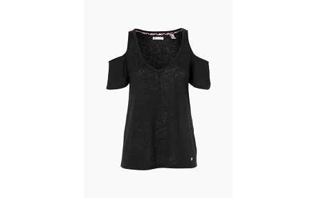 Tričko O´Neill Lw Shoudler Fun T-Shirt Černá
