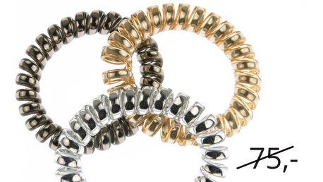 Fashion Icon Sada vlasové gumičky lesklé 3 ks