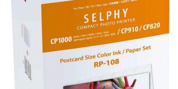 Fotopapír Canon RP-108,10x15 cm, 108 listů pro Selphy (8568B001AA)2