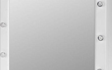 Zrcadlo, skříňka na šperky - 2 v 1,podsvícení LED Emako