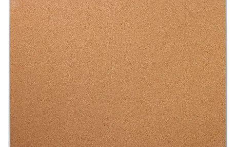 Korková tabule na poznámky, hliníkový rám, 30x40 cm, EMAKO