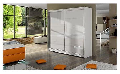 Velká šatní skříň FALCO I bílá šířka 180 cm