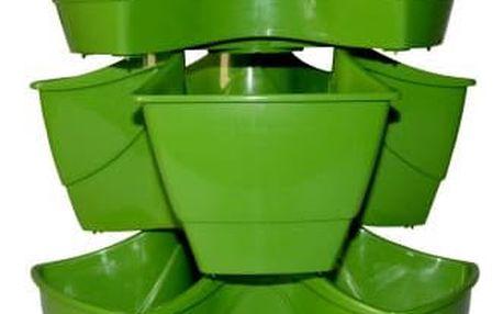 Květináč na bylinky COUBI kaskáda zelený