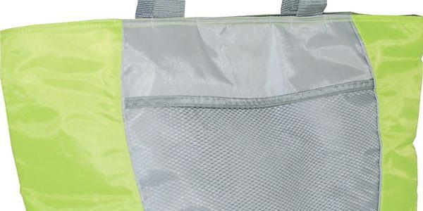 Chladící taška Calter plážová SP 30L stříbrná/zelená2