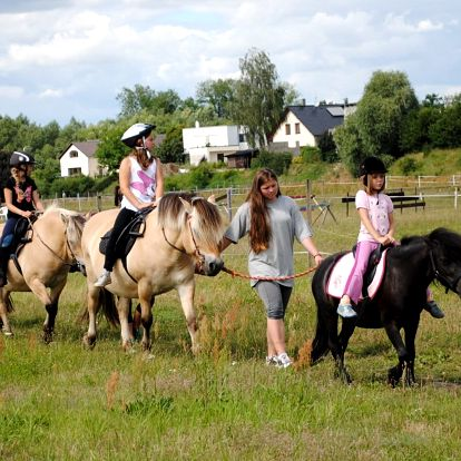 Letní příměstský jezdecký tábor u koní