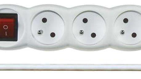 Emos Prodlužovací kabel s vypínačem 5 zásuvek 3m