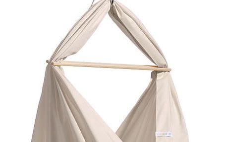 Malá krémová kolébka z bio bavlny se zavěšením do stropu Hojdavak Baby (0až9 měsíců) - doprava zdarma!