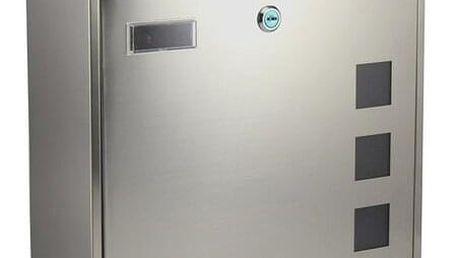 RICHTER BK703.G Poštovní nerezová schránka Cube, stříbrná