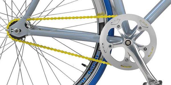 Městké kolo Coppi Scatto Fisso modré/žluté + Taška Dunlop Retro street v hodnotě 399 Kč + Doprava zdarma2