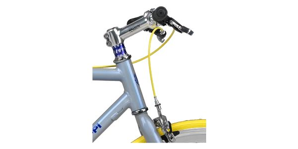 Městké kolo Coppi Scatto Fisso modré/žluté + Taška Dunlop Retro street v hodnotě 399 Kč + Doprava zdarma4