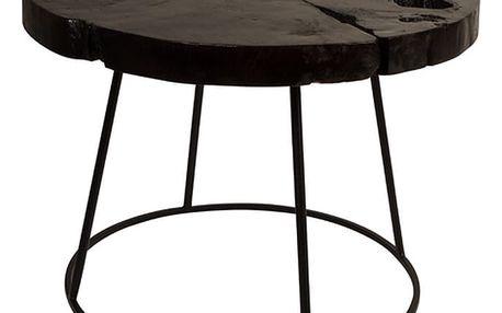 Odkládací stolek z teakového dřeva Dutchbone, ⌀ 60 cm