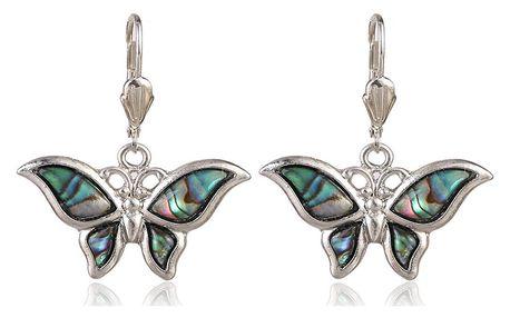 Fashion Icon Náušnice motýl s Paua perletí