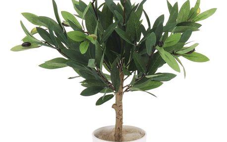 Umělý strom Oliva v květináči, 43 cm