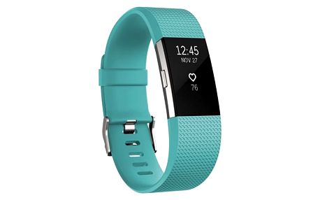 Fitness náramek Fitbit Charge 2 large - Teal Silver (FB407STEL-EU)