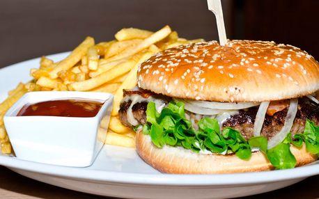 Výběr ze 3 druhů šťavnatých hovězích burgerů