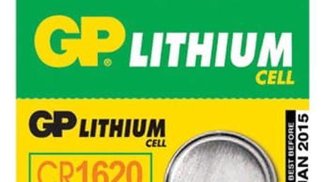 Baterie lithiová GP CR1620, blistr 1ks (GP CR1620)