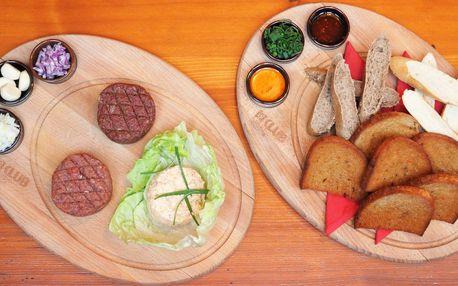 Tatarákové menu: hovězí, tvarůžkový i vepřový