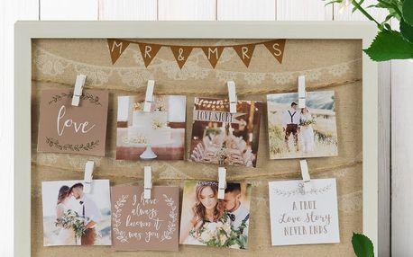 Rám s kolíčky na fotografie Celebrations Love Story