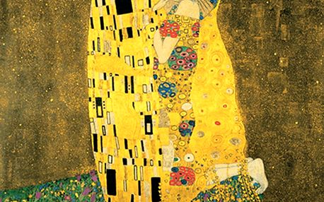 Reprodukce obrazu Gustav Klimt - The Kiss, 70x70cm