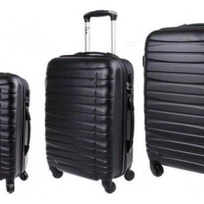 Sada 3 kufrů skořepinové černá