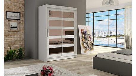 Velká šatní skříň MIAMI IV bílá šířka 120 cm