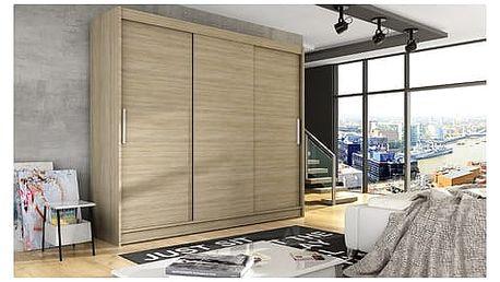 Velká šatní skříň ASTON II dub sonoma šířka 250 cm