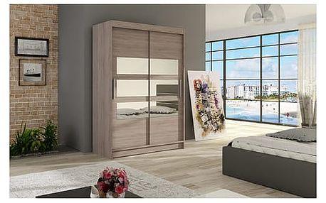 Velká šatní skříň MIAMI V trufla šířka 120 cm