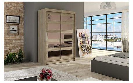 Velká šatní skříň MIAMI IV sonoma šířka 120 cm