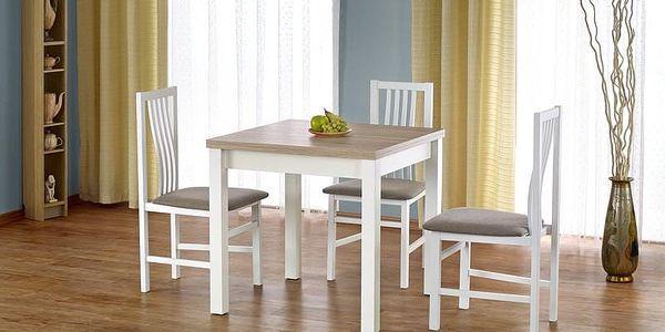 Dřevěný rozkládací jídelní stůl Gracjan tmavý ořech2