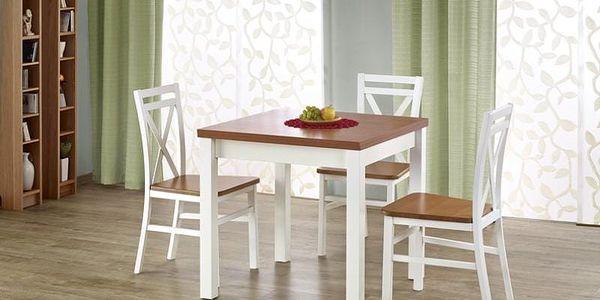 Dřevěný rozkládací jídelní stůl Gracjan tmavý ořech3