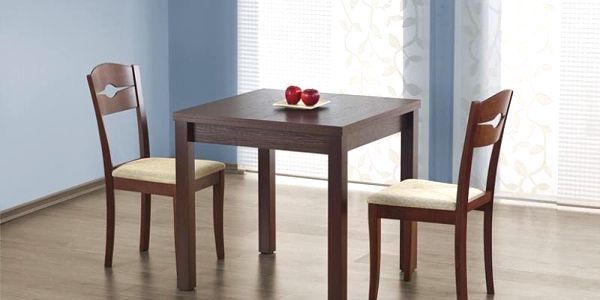 Dřevěný rozkládací jídelní stůl Gracjan tmavý ořech4