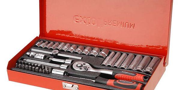 "Sada klíčů EXTOL PREMIUM 8818360, nástrčné, 45 ks, 1/4"", CrV"