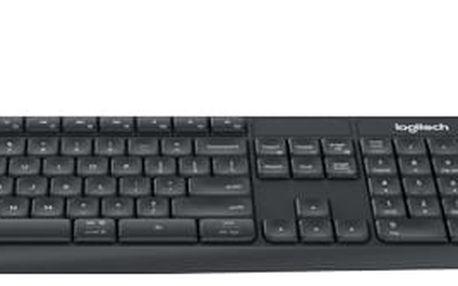 Klávesnice Logitech Wireless K375s, CZ + stojan na mobil/tablet černá (920-008182)