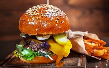 Burger s kvalitním hovězím Blonde d´Aquitaine