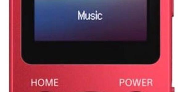 MP3 přehrávač Sony NWE393R červený3