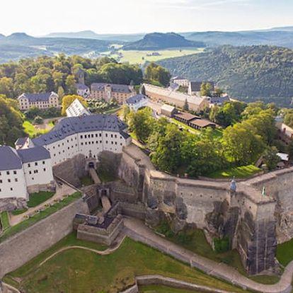 Saské Švýcarsko - zájezd pro jednoho, pevnost Königstein, skalní město, lázně Bad Schandau.