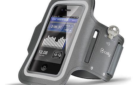 Pouzdro na mobil sportovní Celly Armband XXL šedé (ARMBAND02)