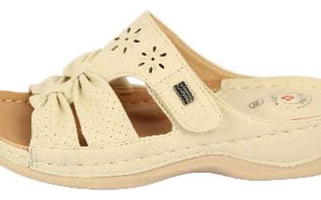 Dámské zdravotní pantofle KOKA 12 béžové