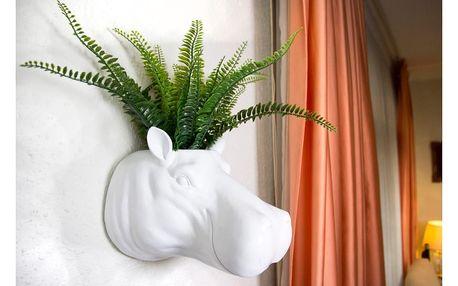 Bílá nástěnný květináč WALPLUS Geometric Hippo