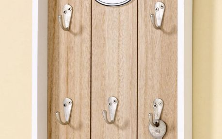 Dřevěný nástěnný držák na klíče Boltze, 25 x 20 cm