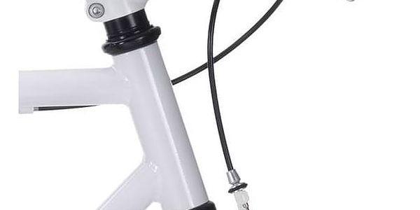 Městké kolo Coppi Scatto Fisso bílé/červené Sada cyklodoplňků (zvonek+blikačka+světlo) pro kolo dospělé (zdarma)Taška Dunlop Retro street + Doprava zdarma5