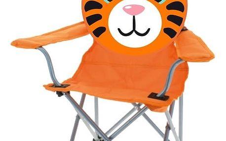 Dětská skládací židle Tiger, oranžová